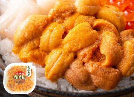 生うに塩水パック 80g×1(北海道 利尻産)