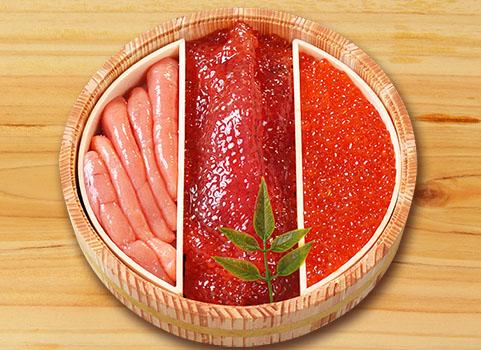 魚卵3点セット 320g(いくら・たらこ・筋子)