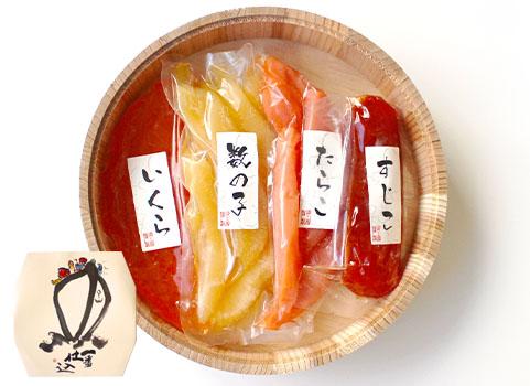 魚卵4点セット(いくら・たらこ・筋子・数の子)