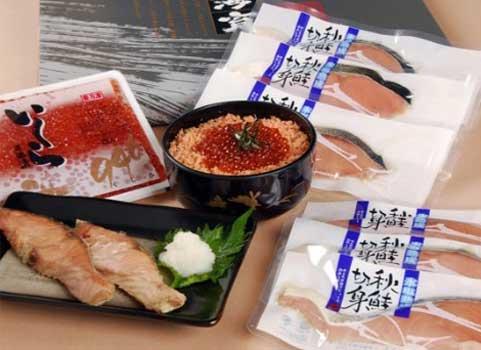 「厳海育ち(げんかいそだち)」鮭・いくらセット(北海道産)