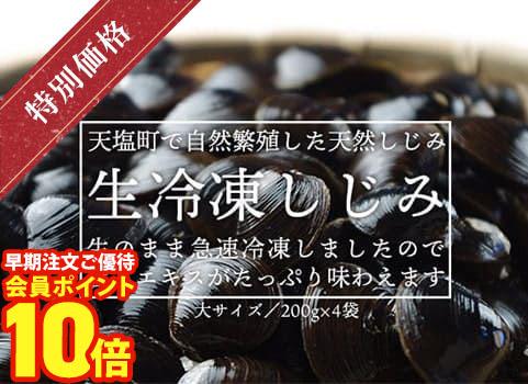 天塩産生冷凍しじみ(800g)大サイズ