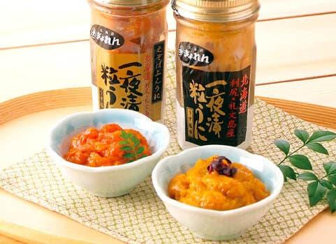 一夜漬粒うに【ビンうに2種】食べ比べセット(北海道 利尻島・礼文島産 )