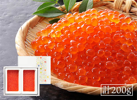 北海道産いくら醤油漬け(100g×2)