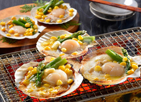 北海道産ほたてバター焼きセット(7個)