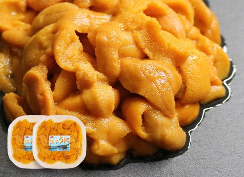羅臼産 生うに(塩水パック)100g×2