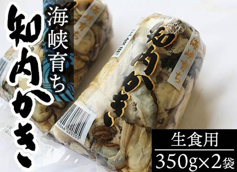 海峡育ち 知内かき(むき身生食用・350g×2袋)【今季発送4/30まで】