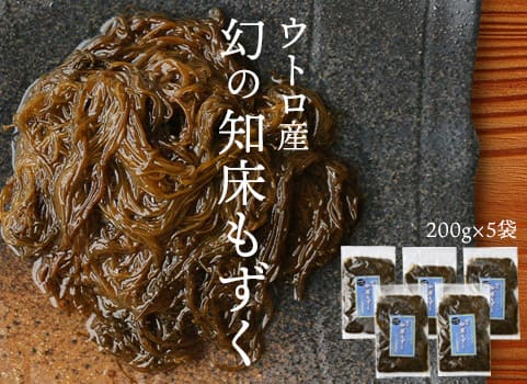 知床半島ウトロ産 幻の知床もずく(200g×5/冷凍)