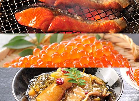 紅鮭・いくら・松前漬セット